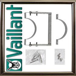 Хомут Vaillant с мягкими вставками для трубы по фасаду с крепежом к стене