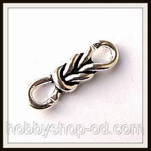 Вставка (конектор) для браслетів кельтський вузол (2,8*0,8 см) 3 шт