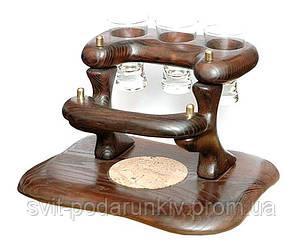 Оригинальный подарок - настольный деревянный мини бар, фото 2
