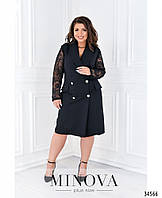 Элегантное двубортное платье в стиле пальто с 50 по 60 размер