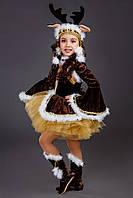 Детский карнавальный костюм Олень для девочки, рост 86-146 см 110