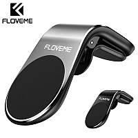 Автомобильный магнитный держатель Floveme в воздуховод с креплением прищепка Silver