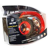 Набор кабелей SX-4G, Комплект проводов для подключения усилителя или сабвуфера, Набор шнуров для акустики, фото 1