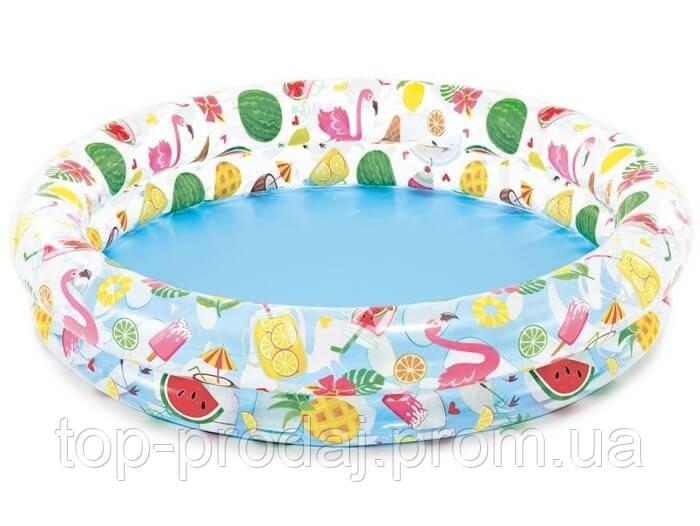 """Бассейн 59421 детский Фрукты"""" 122*25см, Надувной бассейн для детей Intex, Круглый бассейн для ребенка от 3 лет"""