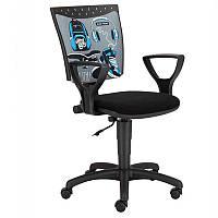 Кресло компьютерное Stillo Black Red White 64.5х90x64.5 (MT-NSTYL/KRZ-OBR-STILLO-09-SLUCHAWKI) 065126, фото 1