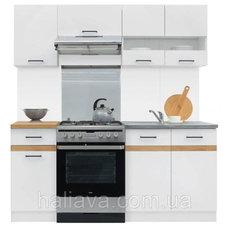 Кухня 180 Junona Black Red White 180хx (K_JUNONA_180) 034880