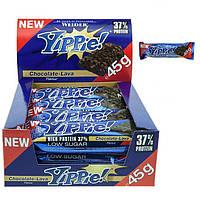 Протеиновый батончик WEIDER Yippie! 45 g Chocolate-Lava 12 шт, фото 1