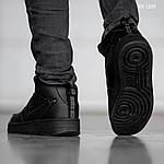 Мужские кроссовки Nike Air Force 1 LV8 High (черные) ЗИМА, фото 2