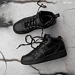 Мужские кроссовки Nike Air Force 1 LV8 High (черные) ЗИМА, фото 4
