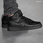 Мужские кроссовки Nike Air Force 1 LV8 High (черные) ЗИМА, фото 6