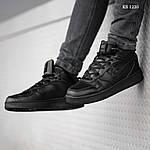 Мужские кроссовки Nike Air Force 1 LV8 High (черные) ЗИМА, фото 8