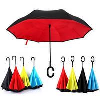 Зонтик одноцветной umbrella, Зонт наоборот, Складной механический зонт, Зонт-перевертыш, Зонт трость