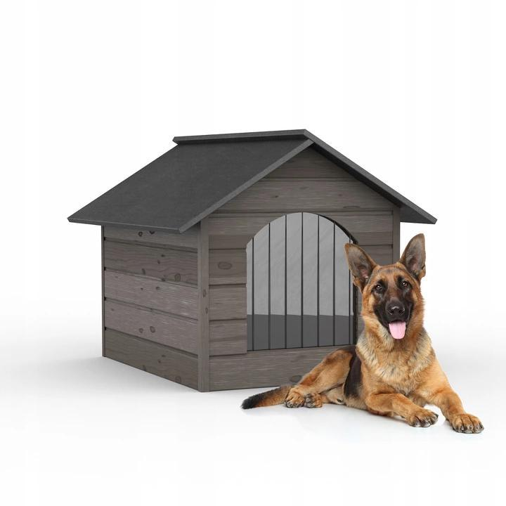 Утепленная будка для собаки из дерева Comfort ХL - 98 х 70 х 77 см