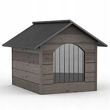 Утепленная будка для собаки из дерева Comfort ХL - 98 х 70 х 77 см, фото 2