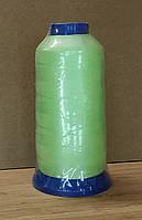 Нитки светящиеся в темноте 3000 ярдов (2700метров) средне зеленый ( люминисцентные) для вышивки и вязания