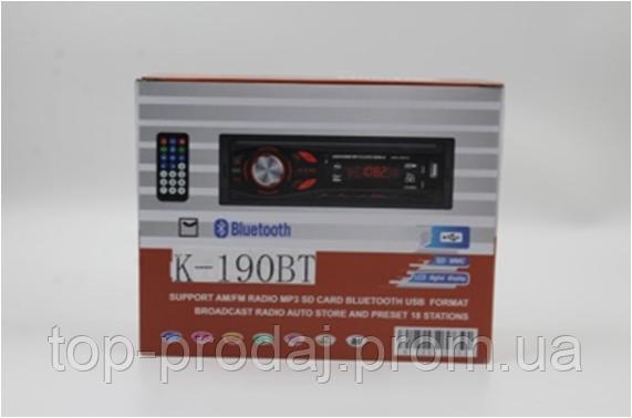 Автомагнитола CAR MP3 K190BT, Штатная магнитола, Автомобильный проигрыватель, Магнитола в машину