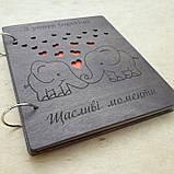 Альбом з дерев'яними обкладинками для сімейних фото, фото 7