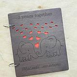 Альбом з дерев'яними обкладинками для сімейних фото, фото 6