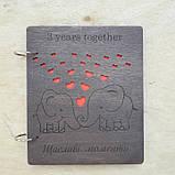 Альбом з дерев'яними обкладинками для сімейних фото, фото 5