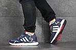 Чоловічі кросівки Adidas Nite Jogger Boost (синьо-білі), фото 3