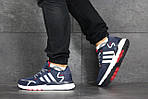 Мужские кроссовки Adidas Nite Jogger Boost (сине-белые), фото 3