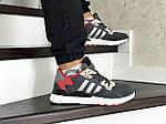 Мужские кроссовки Adidas Nite Jogger Boost (серо-красные), фото 5