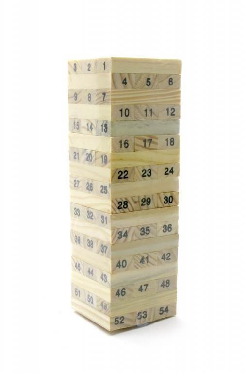 Настольная игра ДЖЕНГА 48 БРУСКОВ (23,5Х7,5Х7,5см)