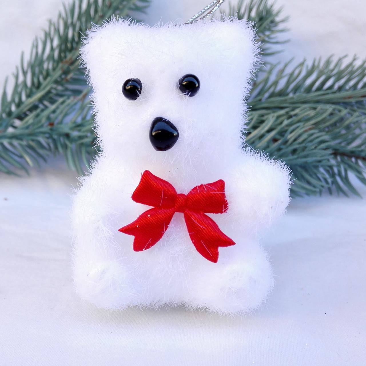 Пушистый белый медведь 4 шт.