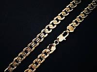"""🔥✅Цепочка """"Панцирная"""" толстая 60 см *  12 мм. Позолота 18 К Xuping, медицинское золото ювелирный сплав"""
