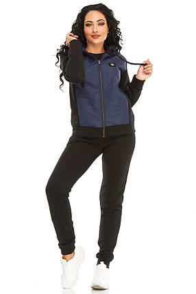 Женская спортивный костюм 731 темно-синий, фото 2
