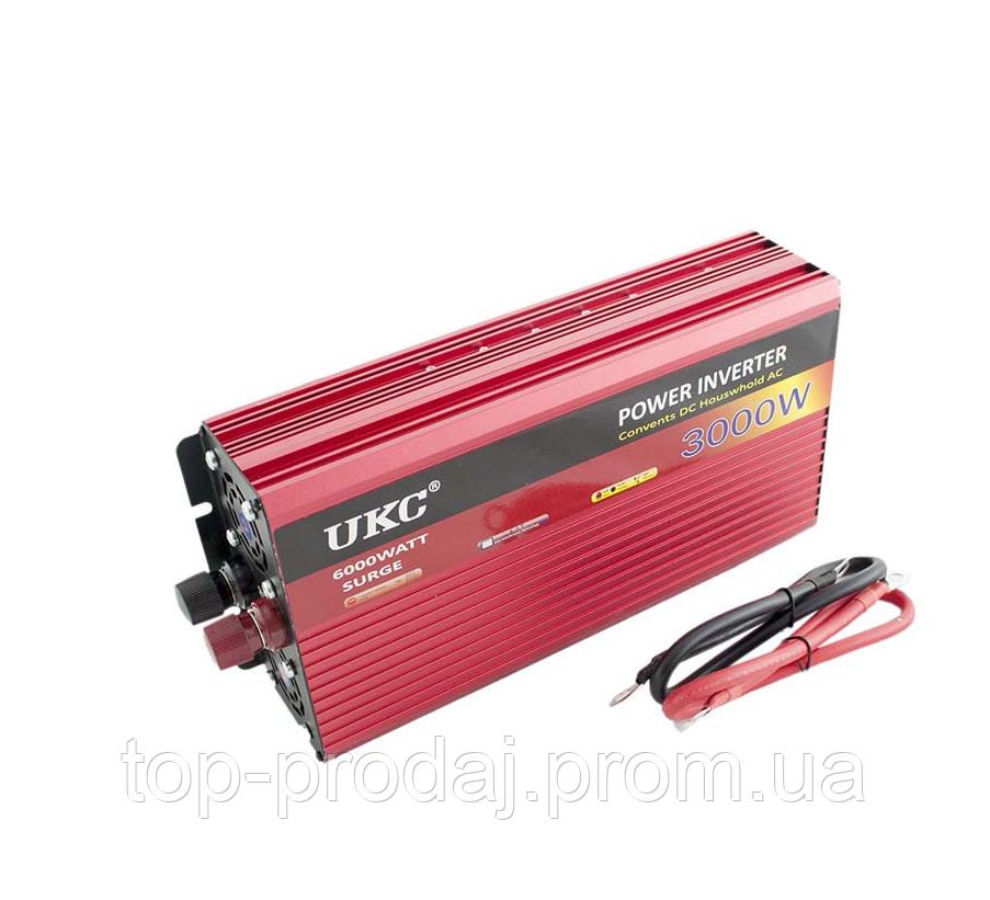 Преобразователь AC/DC AR 3000W 12V,  Преобразователь постоянного тока, Инвертор в авто, Автоинвертор