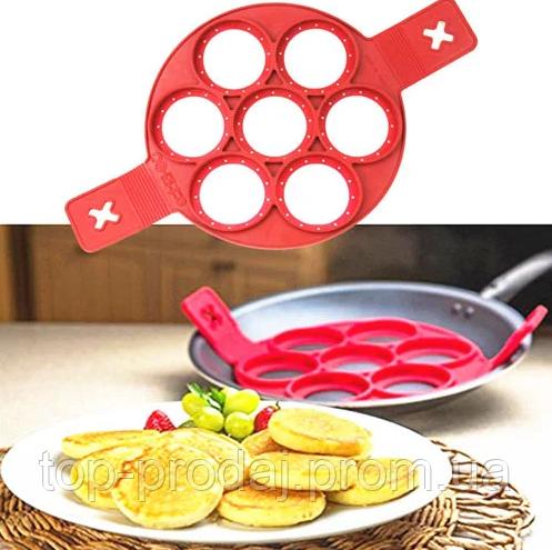Форма для оладей CAKE MAKER, Формочка для выпекания панкейков и омлета, Силиконовая форма для оладий