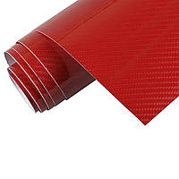 Виниловая карбоновая пленка 5D Красный 152х30 см