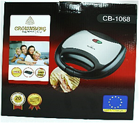 Sandwich Maker CB 1068 Crownberg, Сэндвичница, Бутербродница, Электросендвичница, Вафельница, Бутербродница