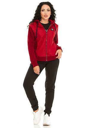 Женская спортивный костюм 731 бордо, фото 2