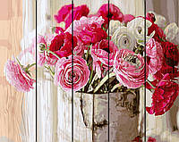 PREMIUM Картина по номерам на дереве 40х50 см. Оттенки розового Rainbow Art