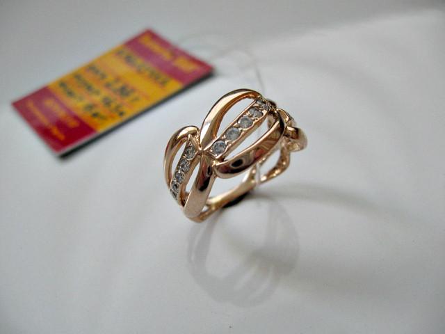 Золоте колечко каблучка 2.88 грама 16.5 розмір Золото 585 проби