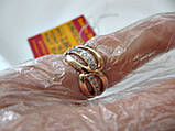 Золоте колечко каблучка 2.88 грама 16.5 розмір Золото 585 проби, фото 7