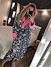 Красивый женский длинный халат с капюшоном серый c микки маусом, фото 4