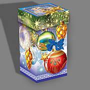 Упаковка праздничная новогодняя из картона Новогодние шары, до 1кг, от 50 штук