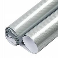 Автомобильная карбоновая пленка 5D Серебро 152х30 см