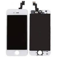 Дисплей iPhone 5S, iPhone SE, белый, с сенсорным экраном, с рамкой, Original
