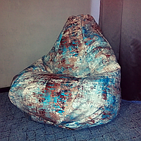 Крісло мішок Груша ЛОФТ АКЦЕНТ блакитно-коричневий