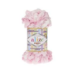Пряжа фантазийная Alize Puffy Color № 5863