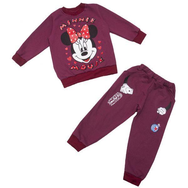 Теплый костюм штаны и кофта для девочки Микки, фото 1