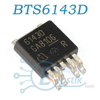 BTS6143D, MOSFET транзистор N канал, 33В 8А, TO252-5