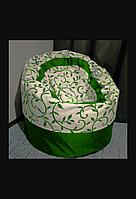 Крісло мішок Пуф орнамент св.зелений