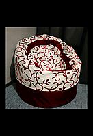 Крісло мішок Пуф орнамент червоний