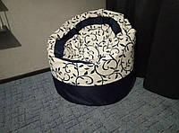 Крісло мішок Пуф орнамент т.синій