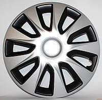 Колпак колеса R14 ELEGANT STRATOS silver&black комплект 4 шт